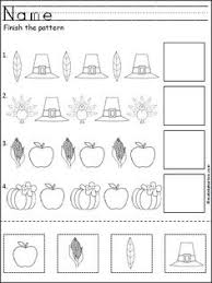 Abb Worksheets For Kindergarten PatternsThis Is A Free Thanksgiving Pattern Worksheet For Kindergarten Or Pre Pattern
