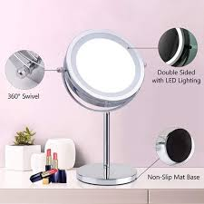 mirror magnifying led makeup mirror