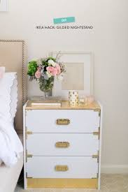 Gilded Campaign Nightstand.