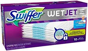 swiffer wetjet hardwood floor spray mop pad refill extra power 10 count