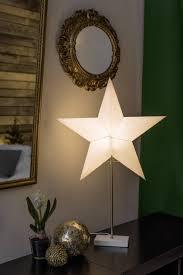 Konstsmide 1752 220 Weihnachtsstern Glühlampe Led Weiß Holz Eek Abhängig V Leuchtmittel A E Mit Ständer Mit