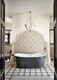 Bathrooms  Beach Style Bathroom With Modern Black Bathtub And - Mediterranean style bathrooms