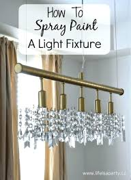spray painting light fixtures lovely spray painting a chandelier or medium size of light fixtures antique