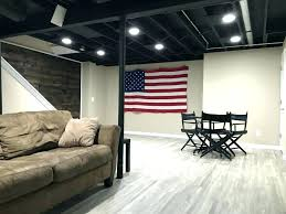 unfinished basement lighting ideas. Unfinished Basement Ceiling Medium Size Of Lights In Exposed Lighting Ideas  Drop Options E