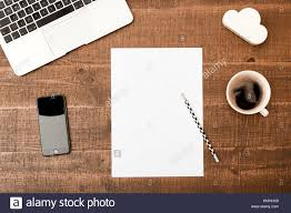 table top view.  Table Office Desk Table Top View With Blank White Paper Laptop Pencil And  Coffee On Wooden Table Background Copy Space Throughout Table View A