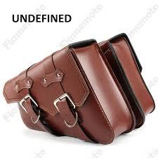 brown pu leather motorbike luggage tool side bag saddlebag for sportster xl 883 xl 1200 undefined motorcycle handlebar bags waterproof motorcycle hard bags