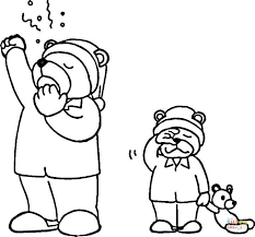 Small Picture Hibernating Bear coloring page Free Printable Coloring Pages