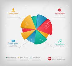 Modern Pie Chart Modern 3d Infographics Pie Chart For Web Or Brochures