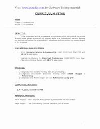 Software Tester Resume Sample Resume Format For Software Testing Fresher Lovely Software Tester 37