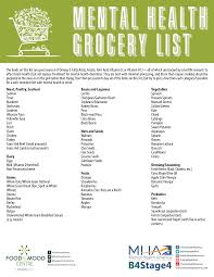 check out our mental health grocery list below and post with 4mind4body to let us know what from this list you already have in your kitchen