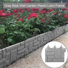 lawn edging plant border gray stone