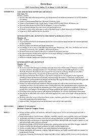 Senior Software Architect Resume Samples Velvet Jobs
