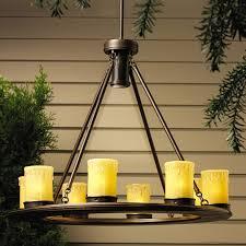 OZ Oak Trail V Outdoor Chandelier - Kichler exterior lighting