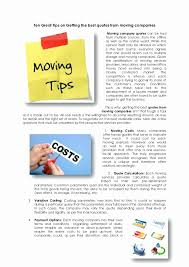 Moving Company Quotes Moving Company Quote Online Best Quote 100 83