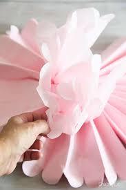 tissue paper crafts make some pom