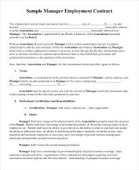 Labour Contract Template Fascinating Sample Manager Employment Contract Employment Contract Template