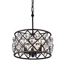 gratifying oil rubbed bronze chandelier with crystals