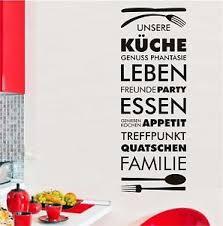 Wandtattoo Sprüche Unsere Küche Freunde Familie Leben Party