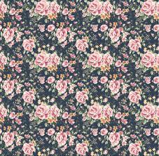Vintage Floral Print Seamless Vintage Flower Pattern On Navy Background Sample Image