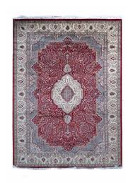 antique red cream hand knotted wool rugs sc08