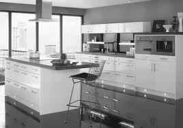inspiring grey kitchen walls. Elegant Apartment Kitchen Set Design With Grey Gloss Acrylic Cabinet Added White Panels As Inspiring Modern Kitchens Decoration Ideas Walls