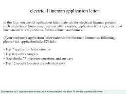 Journeyman Electrician Cover Letter Bunch Ideas Of Maintenance ...
