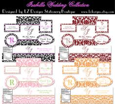 Label Design Free Wedding Labels Free The Isabella Collection By Lz Dezigns