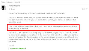 sharmin gets her first two upwork clients while working full time client s first message