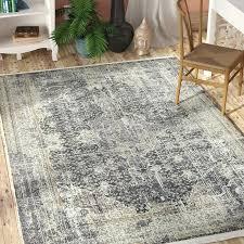 wayfair bungalow rose rugs bungalow rose dark gray area rug amp reviews inspirations of round area