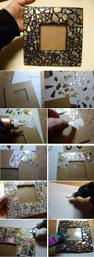 DIY Mosaic Frame from Old CDs diy crafts craft ideas easy crafts diy ideas  diy idea diy home easy diy for the home crafty decor ...