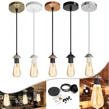 details about e27 ceiling rose pendant lamp bulb holder socket base hanging fitting home chl
