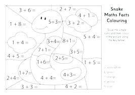 Division Coloring Pages Color By Number First Grade Addition