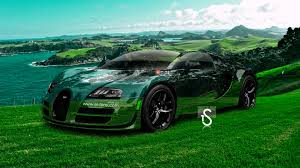 bugatti veyron crystal nature car