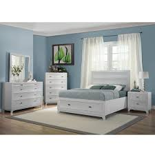 White full storage bed Build In Drawer Whiteaker White Queen Storage Bed Alternate Image Of Images El Dorado Furniture Whiteaker White Queen Storage Bed El Dorado Furniture
