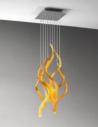 contemporary chandelier glass blown glass led