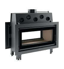 pl wood burning fireplace insert double sided ventless electric with er