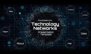 Dark Technology Network Futuristic Presentation Template For