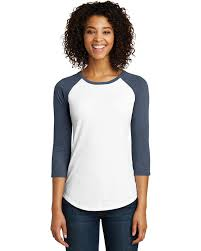District Dt6211 Womens Very Important 3 4 Sleeve Raglan T Shirt