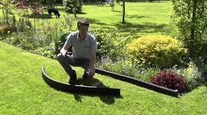 black crumb rubber garden edging