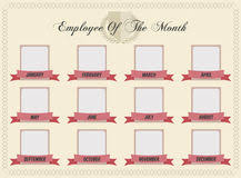 Employee Of The Month Template With Photo Certificate Employee Month Stock Illustrations 149 Certificate