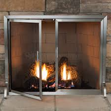 fireplace screens with doors. Lumino Stainless Steel Fireplace Screen With Doors | WoodlandDirect.com: Screens, Heritage Screens