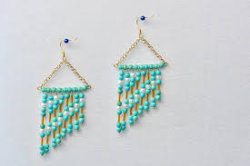 finished turquoise chandelier earrings