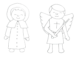 Coloring Pages Of Saints Saint Coloring Pages Saints Coloring Pages