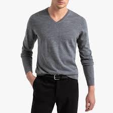 <b>Пуловер</b> с v-образным вырезом из <b>шерсти</b> мериноса pascal <b>La</b> ...