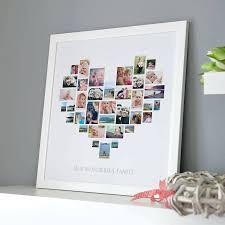 diy heart photo collage frame wooden white framed print picture 18 frames