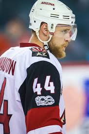 the 28 year old defenseman finished third on the coyotes in scoring by defen with 21 points and did so in limited minutes that included almost zero