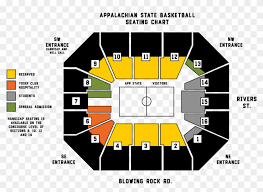 Cross Center Seating Chart Holmes Center Seating Chart App State Football Student
