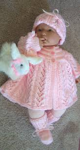 Hand Knitted Sweaters Designs For Baby Girl Handmade Knit Baby Girls Pink Sweater Set Beautiful Lace