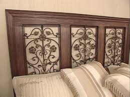 how to build a wrought iron panel headboard
