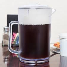 clear textured pitcher with lid image preview